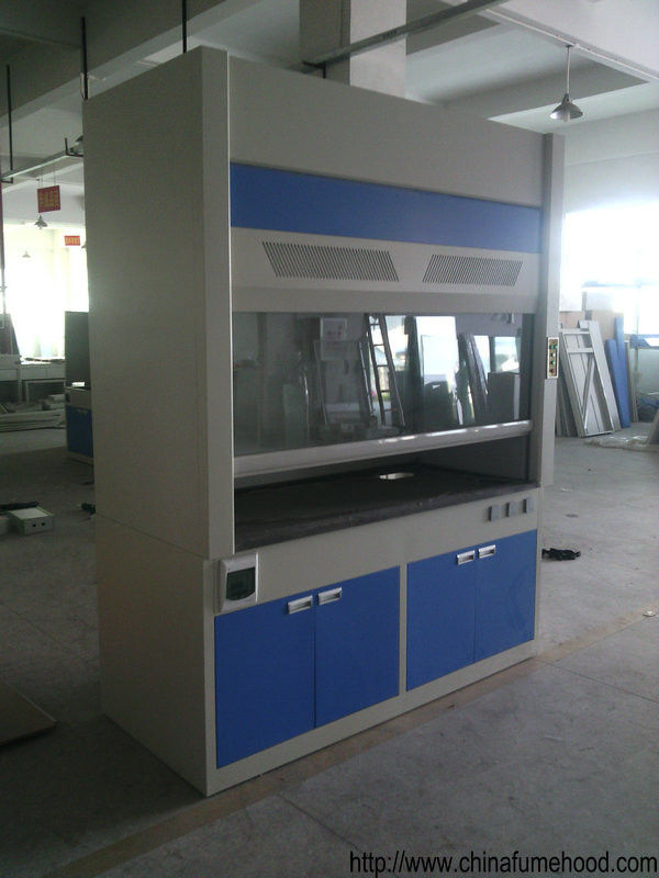 Acid Resistant Steel Fume Hood , Metal Chemical Fume Cupboard 0.5m/S Air Volume