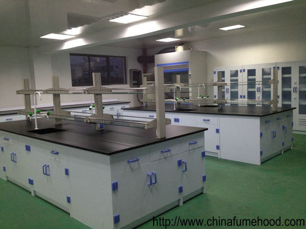 Floor Mounting Laboratory Working Table PP Material For College Biology Class